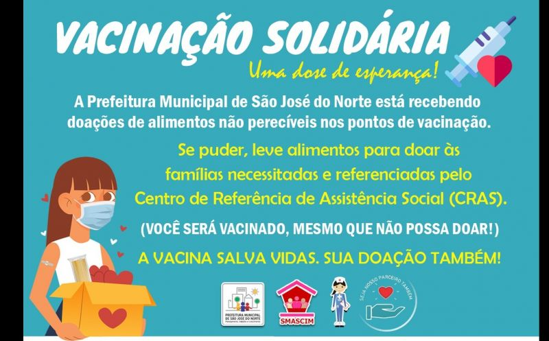 Foto de capa da notícia Vacinação Solidária incentiva a arrecadação de alimentos