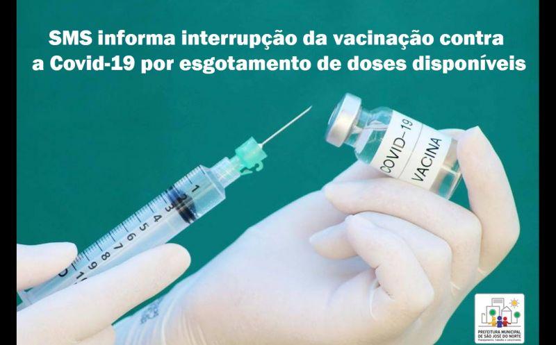 Foto de capa da notícia SMS informa interrupção da vacinação contra a Covid-19 por esgotamento de doses disponíveis