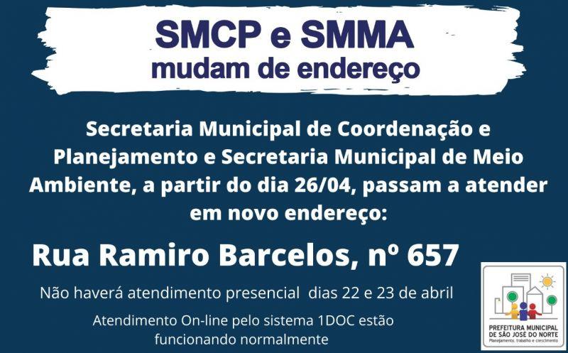 Foto de capa da notícia SMCP E SMMA comunicam mudança de endereço, para a Rua Ramiro Barcelos nº 657