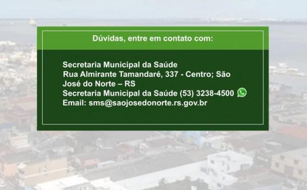 Foto de capa da notícia: Secretaria da Saúde divulga mais um boletim semanal com detalhamento de casos de Covid-19 em São José do Norte - Semana de 25/04 à 01/05