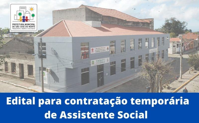 Foto de capa da notícia: Smascim divulga edital de abertura do Processo Seletivo Simplificado para contratação temporária de Assistente Social