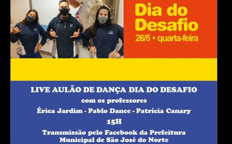 Foto de capa da notícia SMTEL convida para o Dia do Desafio Sesc Rio Grande que acontecerá na quarta-feira – 26 de maio