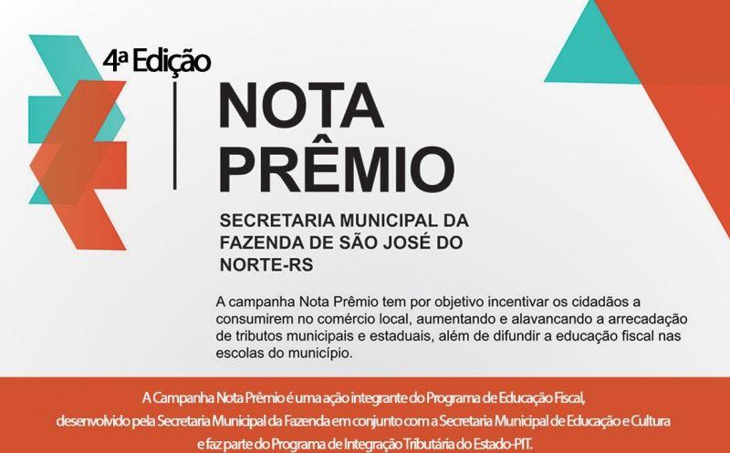 Foto de capa da notícia Campanha Nota Prêmio sorteará Tablet