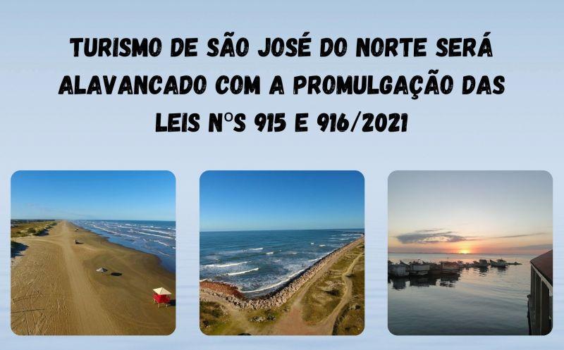 Foto de capa da notícia Turismo de São José do Norte será alavancado com a promulgação das leis nºs 915 e 916/2021