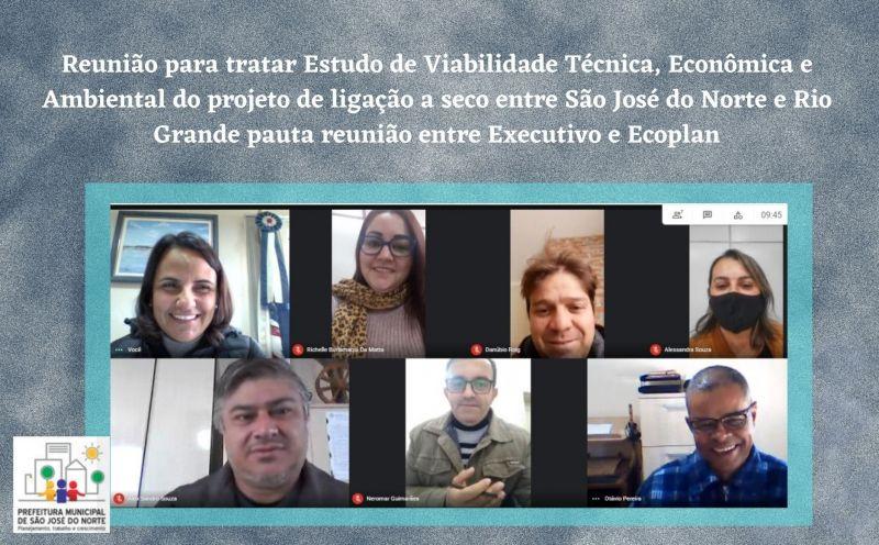 Foto da Notícia Estudo de Viabilidade Técnica, Econômica e Ambiental do projeto de ligação a seco entre São José do Norte e Rio Grande pauta reunião entre Executivo e Ecoplan