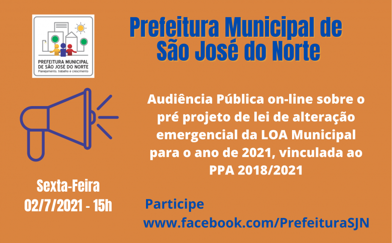 Foto de capa da notícia Audiência Pública on-line trata da alteração emergencial da LOA Municipal