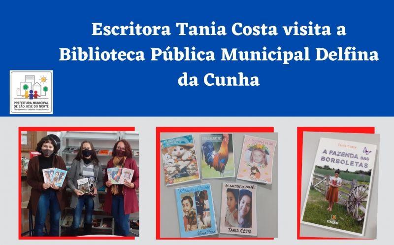 Foto de capa da notícia Escritora Tania Costa visita a Biblioteca Pública Municipal Delfina da Cunha