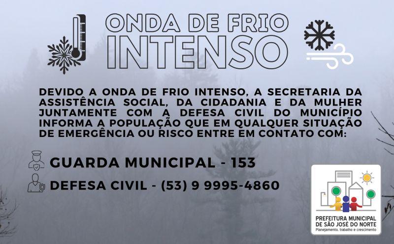 Foto de capa da notícia: ATENÇÃO - ONDA DE FRIO INTENSO