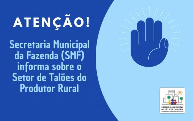 Foto de capa da notícia: SMF informa sobre Setor de Talões do Produtor Rural