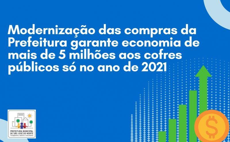 Foto de capa da notícia Modernização das compras da Prefeitura de São José do Norte garante economia de mais de 5 milhões aos cofres públicos só no ano de 2021
