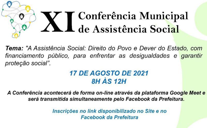 Foto de capa da notícia ABERTAS AS INSCRIÇÕES PARA XI CONFERÊNCIA MUNICIPAL DE ASSISTÊNCIA SOCIAL