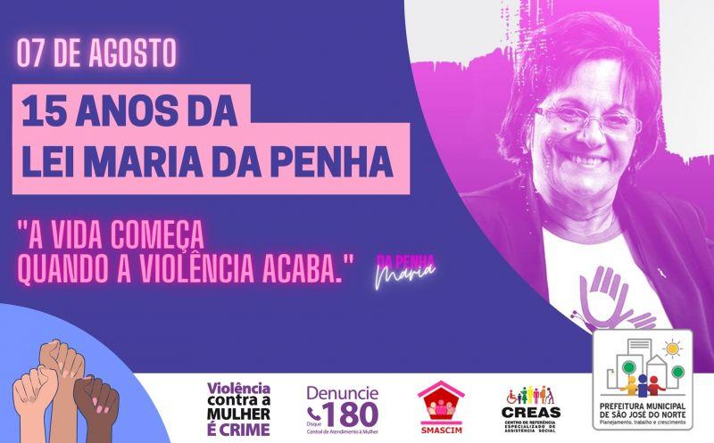 Foto de capa da notícia 07 de Agosto | 15 anos da Lei Maria da Penha
