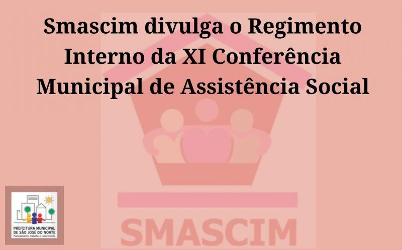 Foto de capa da notícia Smascim divulga o Regimento Interno da XI Conferência Municipal de Assistência Social
