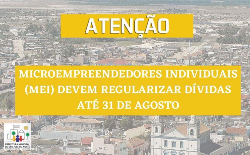 Foto de capa da notícia Microempreendedores Individuais (MEI) devem regularizar dívidas até 31 de agosto