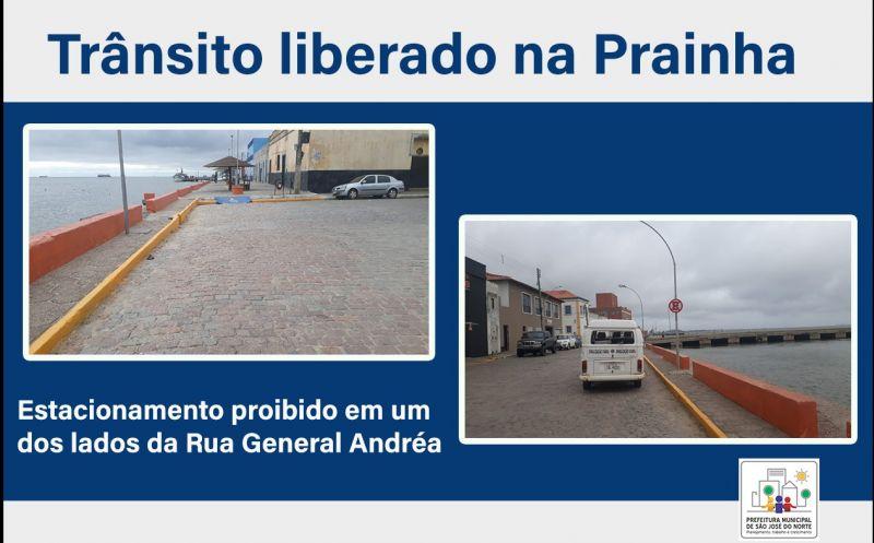 Foto de capa da notícia SMTT informa liberação da prainha para trânsito de veículos