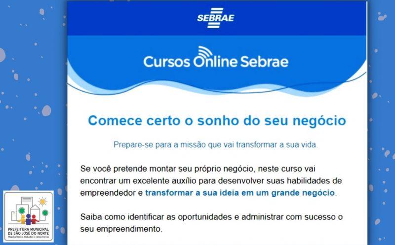 """Foto de capa da notícia Sebrae lança curso on-line """"Iniciando um pequeno grande negócio"""""""