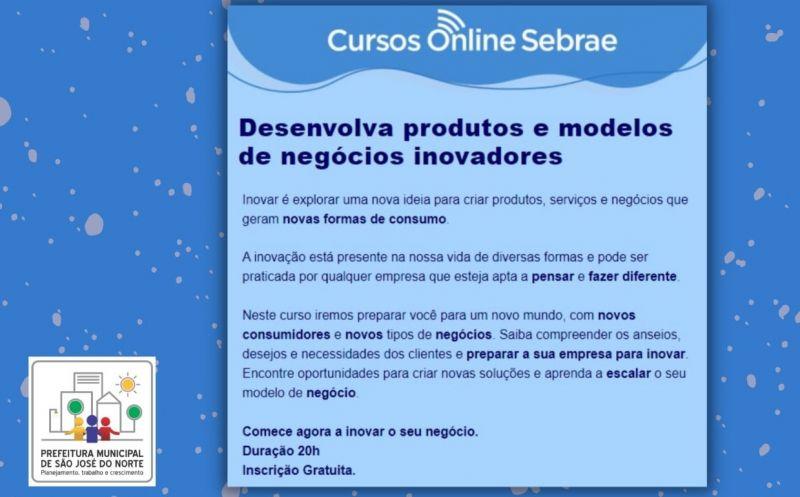 """Foto de capa da notícia Sebrae lança curso on-line """"Desenvolva produtos e modelos de negócios inovadores"""""""