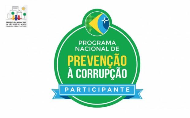 Foto de capa da notícia: Prefeitura Municipal ganha marca de participante do Programa Nacional de Prevenção à Corrupção