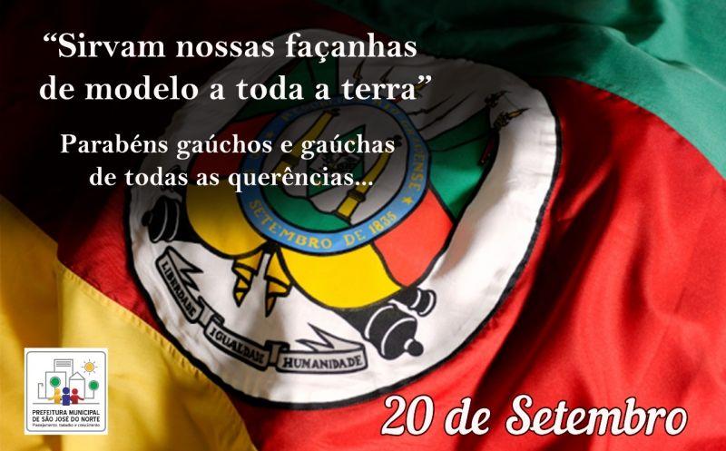 Foto de capa da notícia 20 de Setembro -  Dia da Revolução Farroupilha, Dia de todos os Gaúchos 🧉🐴
