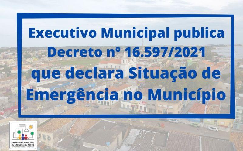 Foto de capa da notícia O Executivo Municipal publica Decreto nº 16.597/2021 que declara Situação de Emergência no Município