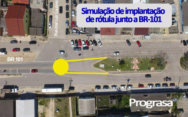 Foto de capa da notícia A SMTT realiza simulação para implantação de rótula junto à BR-101