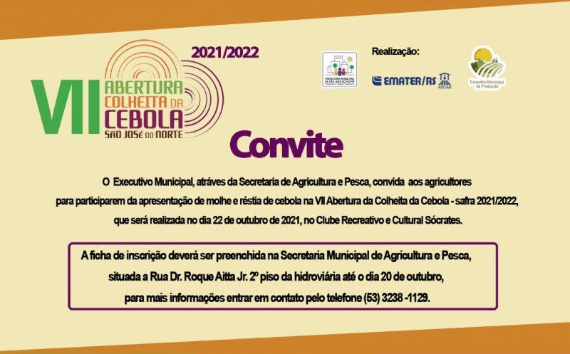 Foto de capa da notícia VII Abertura da Colheita da Cebola - safra 2021/2020.