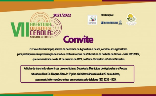 Foto de capa da notícia: VII Abertura da Colheita da Cebola - safra 2021/2020.