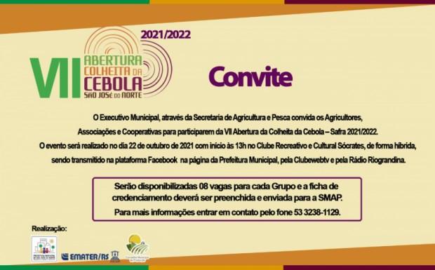Foto de capa da notícia: Convite