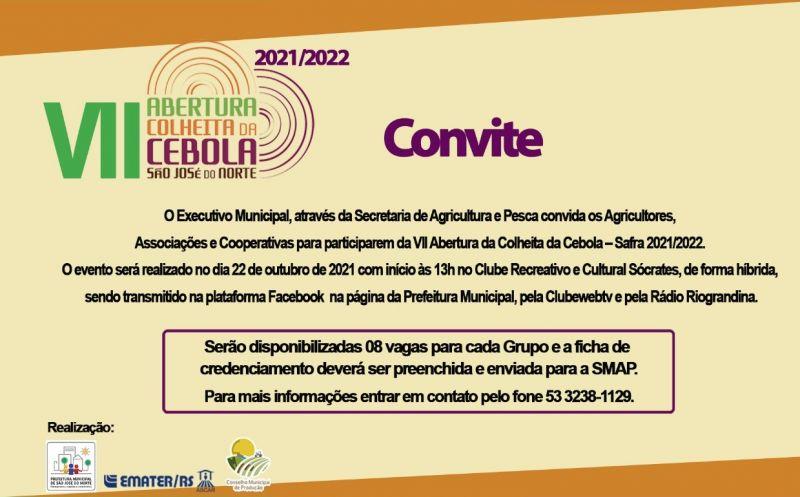 Foto de capa da notícia VII ABERTURA DA COLHEITA DA CEBOLA SAFRA 2021/2022
