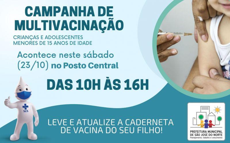 Foto de capa da notícia SMS promove atualização da caderneta de vacinas neste sábado (23/10)