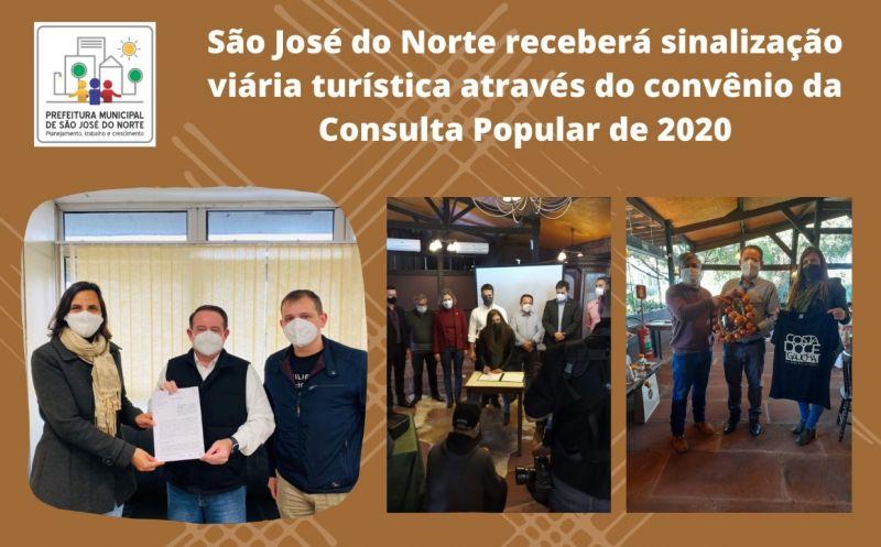 Foto de capa da notícia: São José do Norte receberá sinalização viária turística através do convênio da Consulta Popular de 2020