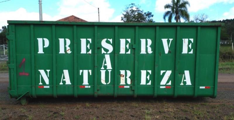 Foto da Notícia Container de descarte de móveis, eletrodomésticos e eletroeletrônicos