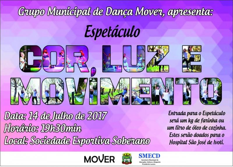 Foto de capa da notícia Espetáculo Cor, Luz e Movimento