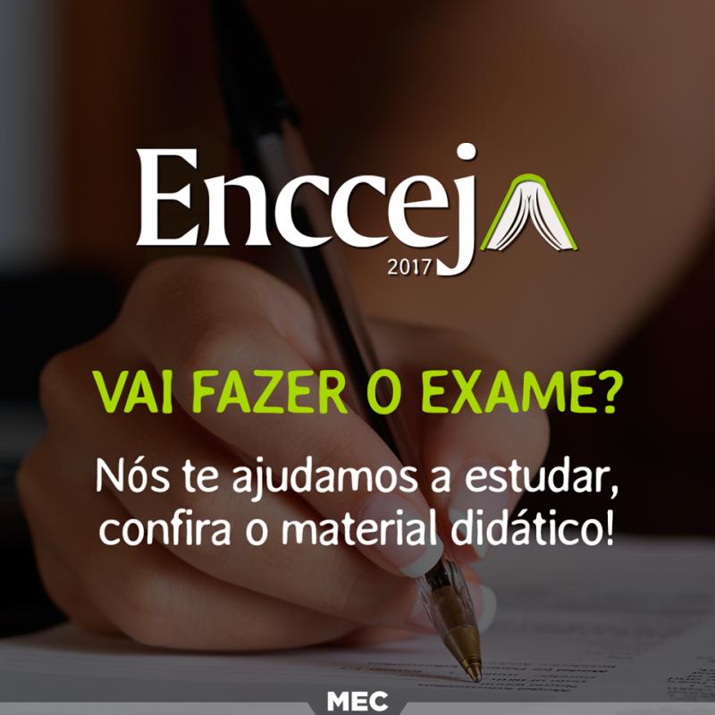 Foto de capa da notícia Inscrições ENCCEJA ocorrem neste mês, informa Ministério da Educação.