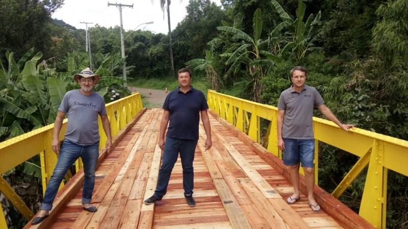 Foto de capa da notícia Concluída a obra de reforma da ponte na Picada Schneider