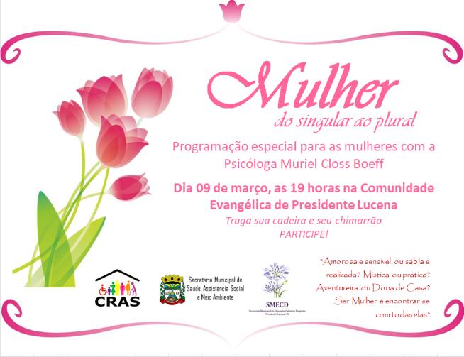 Foto de capa da notícia Convite para o Dia da Mulher