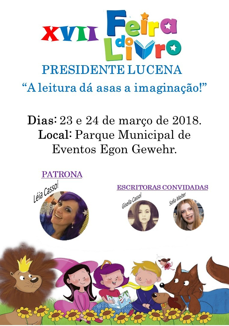 Foto de capa da notícia XVII FEIRA DO LIVRO DE PRESIDENTE LUCENA