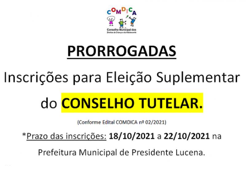Foto da Notícia ELEIÇÕES SUPLEMENTARES DO CONSELHO TUTELAR