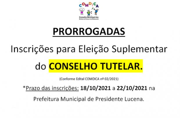 Foto de capa da notícia: ELEIÇÕES SUPLEMENTARES DO CONSELHO TUTELAR