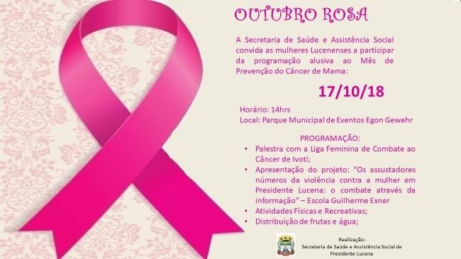 Foto de capa da notícia OUTUBRO ROSA
