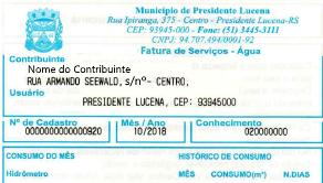Foto de capa da notícia ENTREGA DOMICILIAR DAS CONTAS DE ÁGUA