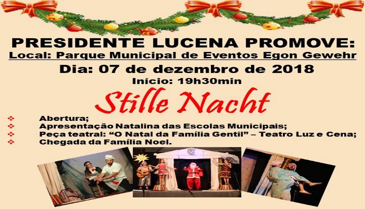 Foto de capa da notícia CONVITE PARA PROGRAMAÇÃO NATALINA - Stille Nacht