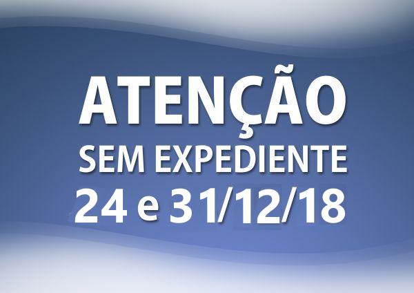 Foto de capa da notícia SEM EXPEDIENTE EXTERNO NOS DIAS 24 E 31/12/2018