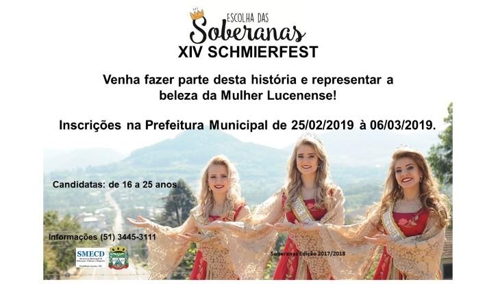 Foto de capa da notícia Inscrições para soberanas da Schmierfest