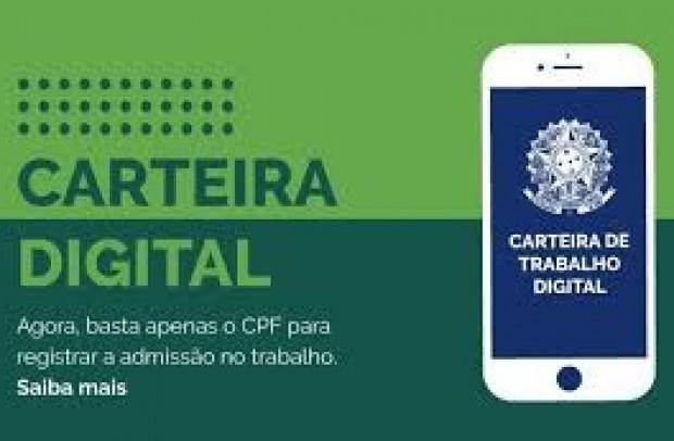 Foto de capa da notícia: CARTEIRA DE TRABALHO DIGITAL