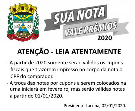 Foto de capa da notícia SUA NOTA VALE PRÊMIOS 2020