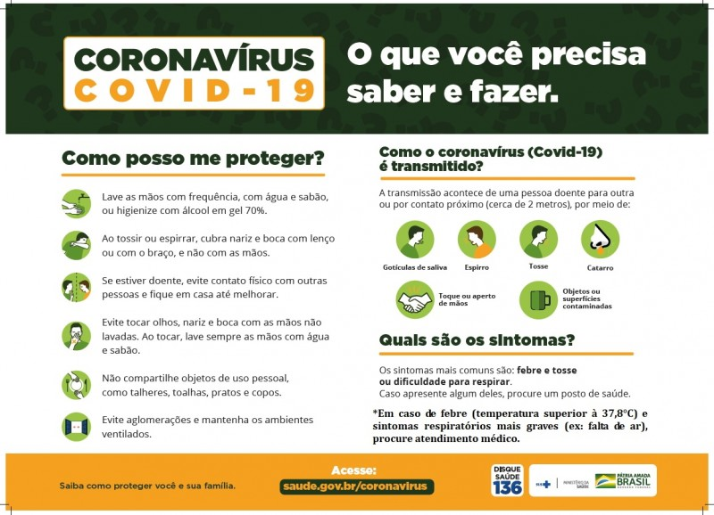 Foto de capa da notícia Coronavírus