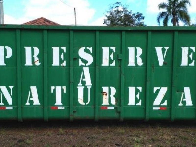 Foto da Notícia Container para descarte de móveis, eletrodomésticos e eletroeletrônicos.