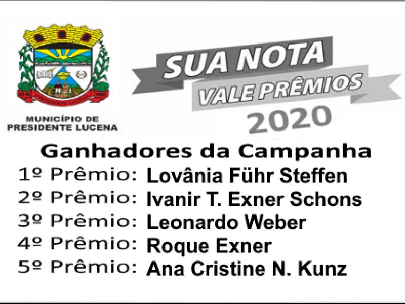 Foto de capa da notícia: SORTEIO DO PROGRAMA SUA NOTA VALE PRÊMIOS