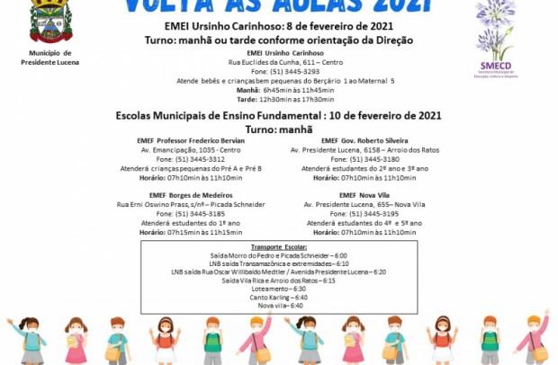Foto de capa da notícia: VOLTA ÀS AULAS PRESENCIAIS